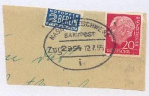 KASSEL-ESCHWEGE i Zug 2954 12.7.55 auf Bf.-Stück
