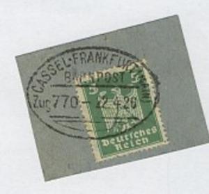 CASSEL-FRANKFURT (MAIN) Zug 770 22.4.26 auf Bf.-Stück