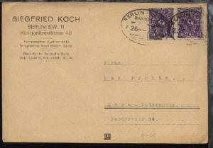 BERLIN-LEIPZIG Z. 26 21.4.23 auf Firmen-PK (Siegfried Koch, Berlin), Kte Einriss