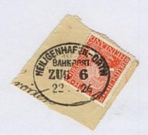 HEILIGENHAFEN-ORTH ZUG 6 22.?.26 auf Bf.-Stück