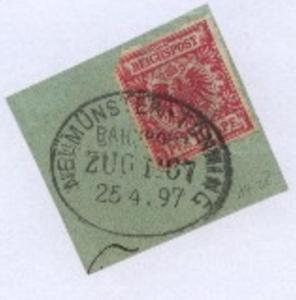 NEUMÜNSTER-TÖNNING ZUG 1067 25.4.97 auf Bf.-Stück