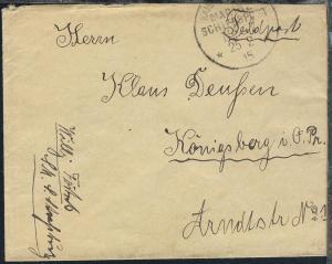 MSP 47 25.2.15 SMS Strassburg auf Feldpostbrief