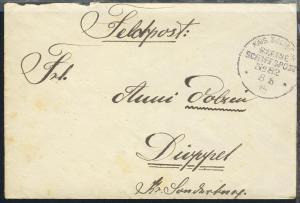 MSP 82 8.6.15 SMS Preussen auf Feldpostbrief