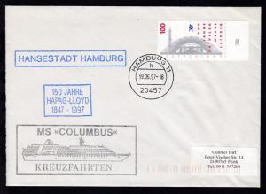 OSt. Hamburg 19.06.97 + R1 HANSESTADT HAMBURG + R3 150 JAHRE HAPAG-LLOYD