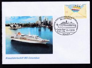 HAMBURG 20457 DEUTSCHE POST ERLEBNIS BRIEFMARKEN MS COLUMBUS Cruise Days