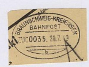 BRAUNSCHWEIG-KREIENSEN b ZUG 0035 20.7.49 auf Bf.-Stück