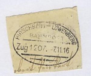 HIRSCHBERG-LÖWENBERG Zug 1207 7.11.16 auf Bf.-Stück