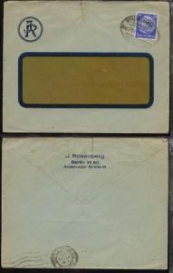 BERLIN-HANNOVER Zug 234 6.7.33 auf Firmen-Fenster-Bf. (J. Rosenberg, Berlin)