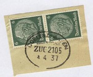 COBLENZ-MAYEN ZUG 2105 4.4.37 auf Bf.-Stück