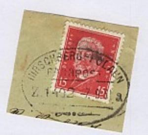 HIRSCHBERG-POLAUN a Z. 1402 7.9.31 auf Bf.-Stück