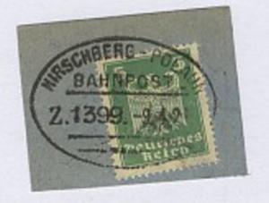 HIRSCHBERG-POLAUN Z. 1399 9.4.26 auf Bf.-Stück