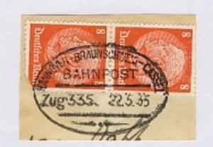 HANNOVER-BRAUNSCHWEIG-CASSEL Zug 335 22.5.35 auf Bf.-Stück