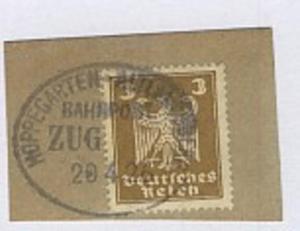 HOPPEGARTEN-ALTLANDSBERG ZUG  20.4.26 auf Bf.-Stück, Stpl. ohne Zug-Nr.