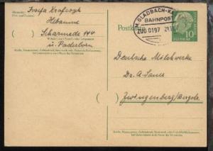 M.GLADBACH-KASSEL c ZUG 0197 29.11.57 auf GSK