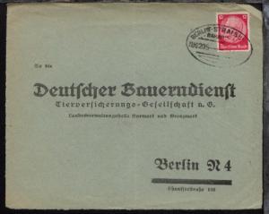 BERLIN-STRALSUND ZUG 205 31.8.33 auf Antwort-Bf.-VS