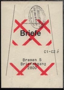 DÜSSELDORF-HAMBURG e ZUG 14041 III 02.11.89 auf Beutelfahne