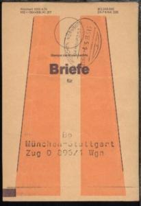 MÜNCHEN-NÜRNBERG b ZUG 625 23.5.85 auf Beutelfahne