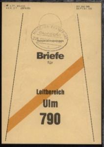 MÜNCHEN-FRANKFURT a ZUG 00896 4.1.83 auf Beutelfahne
