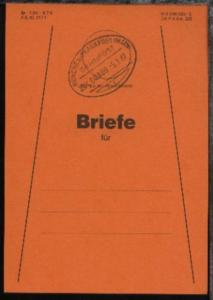 MÜNCHEN-FRANKFURT (MAIN) f ZUG 00880 5.1.87 auf Beutelfahne