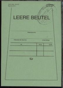 HAMBURG-FRANKFURT d ZUG 00173 7.3.88 auf Beutelfahne