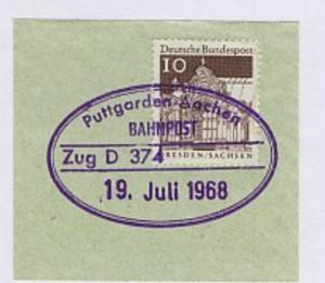 Puttgarden-Aachen Zug D 374 19. Juli 1968 auf Bf.-Stück