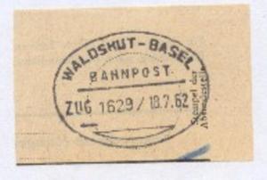 WALDSHUT-BASEL ZUG 1629 18.7.62 auf Bf.-Stück