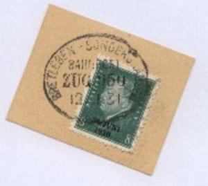 BRETLEBEN-SONDERSHAUSEN ZUG 650 12.1.31 auf Bf.-Stück