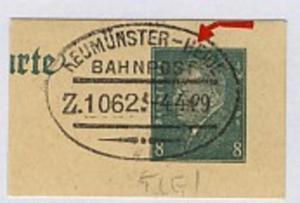 NEUMÜNSTER-HEIDE Z. 1062 4.4.29 auf Bf.-Stück