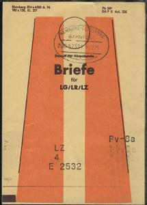 HAMBURG-FLENSBURG i ZUG 62531 16.12.75 auf Beutelfahne