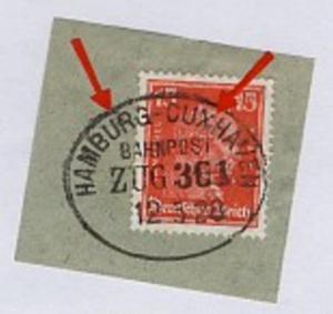 HAMBURG-CUXHAVEN ZUG 361 12.5.28 auf Bf.-Stück