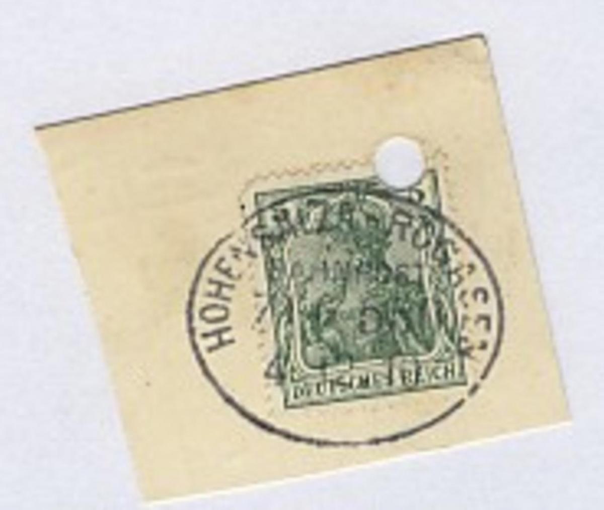 HOHENSALZA-ROGASEN ZUG 550 4.12.10 auf Bf.-Stück, Aktenloch 0