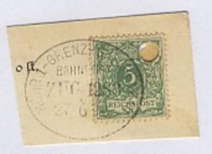 HÖHR 1-GRENZHSN-GRENZAU ZUG 1283 27.6.98 auf Bf.-Stück, Aktenloch