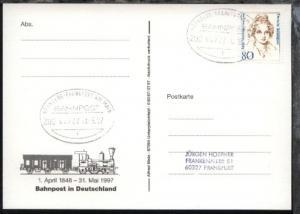NÜRNBERG-FRANKFURT AM MAIN f ZUG 00722 30.5.97 auf AK