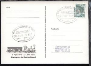NÜRNBERG-FRANKFURT AM MAIN d ZUG 39021 30.5.97 auf AK