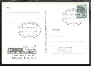 WÜRZBURG-KASSEL b ZUG 039071 30.5.97 auf AK