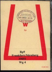 MÜNCHEN-FRANKFURT (MAIN) f ZUG39051 19.12.96 auf Beutelfahne