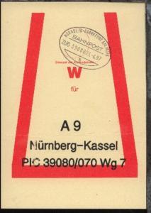 NÜRNBERG-FRANKFURT AM MAIN b ZUG 39080 21.4.97 auf Beutelfahne