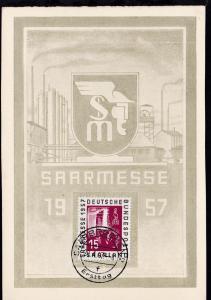 Saarmesse 1957 auf Ersttagskarte