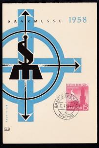 Saarmesse 1958 auf Ersttagskarte