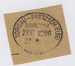 TORGAU-PRETZSCH (ELBE) ZUG 2206 27.?.15 auf Bf.-Stück