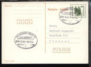 MEININGEN-BERLIN c ZUG 00556 06.11.90 auf GSK