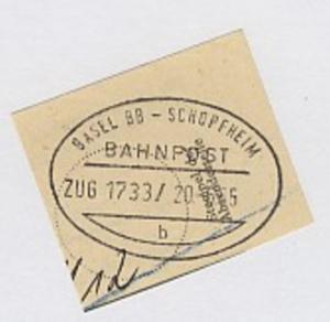 BASEL BB-SCHOPFHEIM b ZUG 1733 20.6.65 auf Bf.-Stück