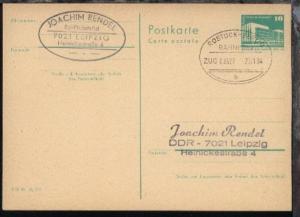 ROSTOCK-BERLIN b ZUG 00327 17.01.84 auf GSK