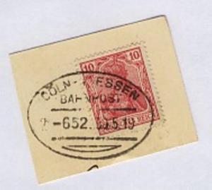 CÖLN-GIESSEN Z. 652 30.5.19 auf Bf.-Stück