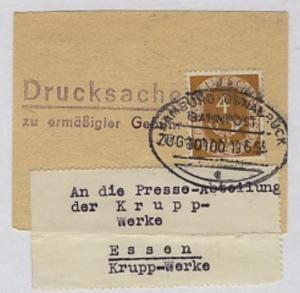HAMBURG-OSNABRÜCK d ZUG 00100 19.6.55 auf Bf.-Stück