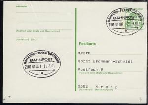 HAMBURG-FRANKFURT/MAIN o ZUG 014071 21.1.81 auf GSK