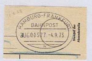 HAMBURG-FRANKFURT k ZUG 00577 4.9.73 auf Bf.-Stück