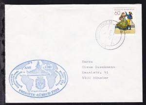 MARINESCHIFFSPOST 03 a 7.7.81+ Cachet Fregatte Lübeck AAG 1981 auf Brief