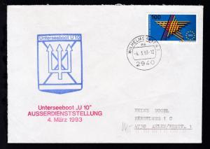 OSt. Wilhelmshaven 4.3.93 + Cachets U 10 auf Brief
