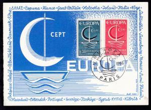 Europamarken 1966 auf Maximumkarte